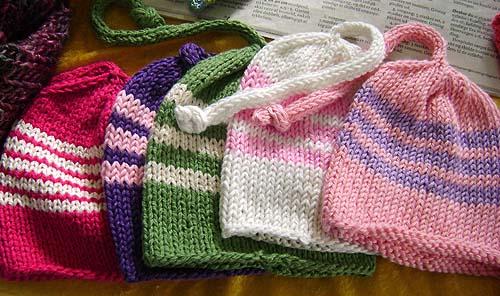 strikkede huer til nyfødte