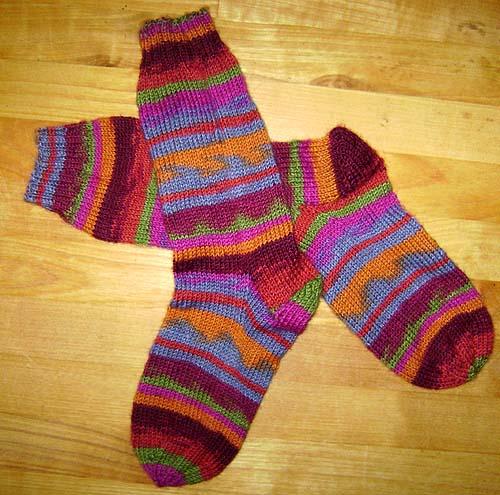 strik sokker på rundpind