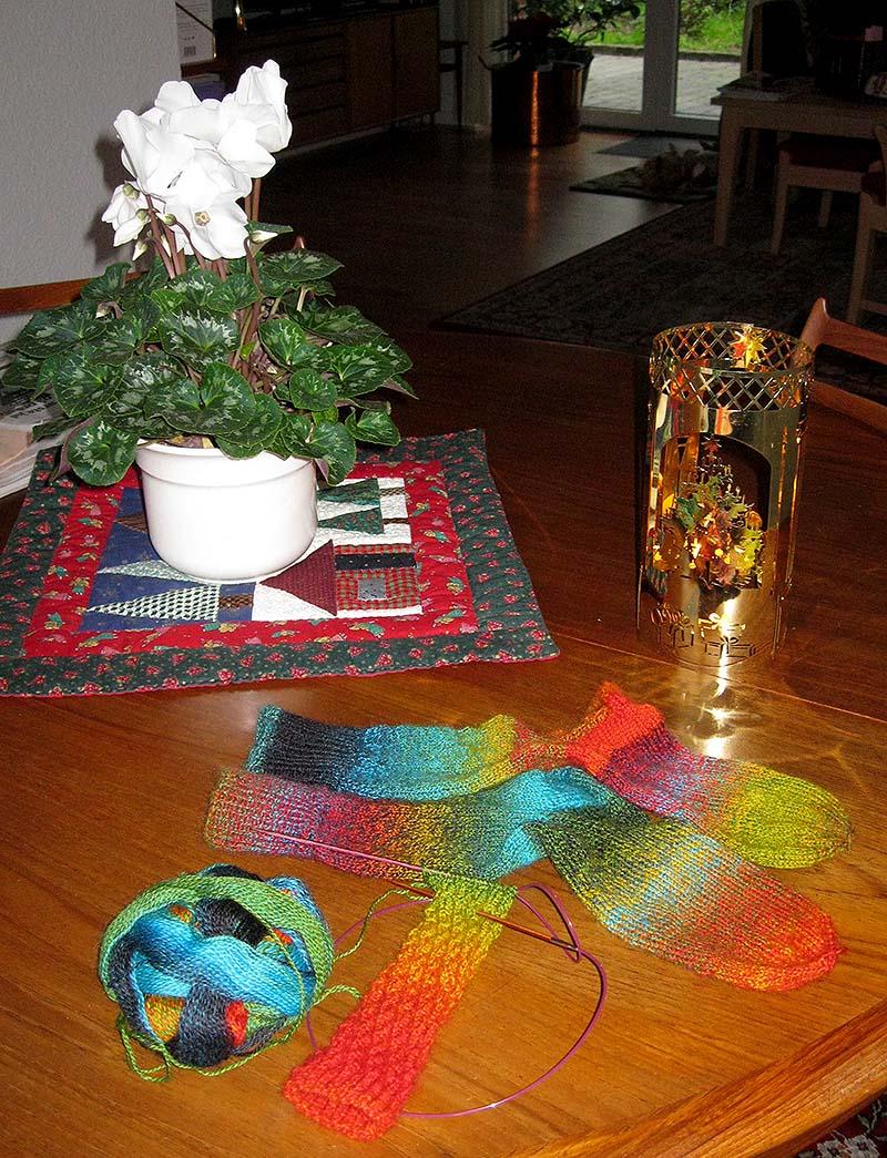 sjove strikkede sokker