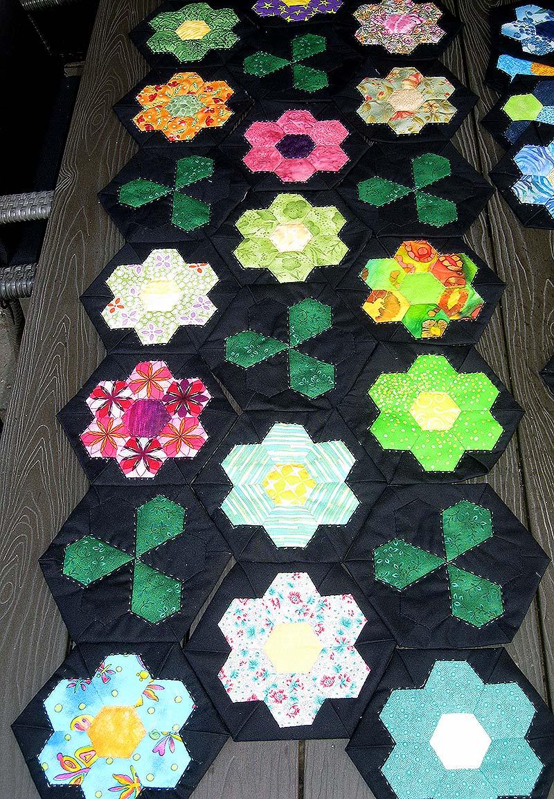 blomster hexagons