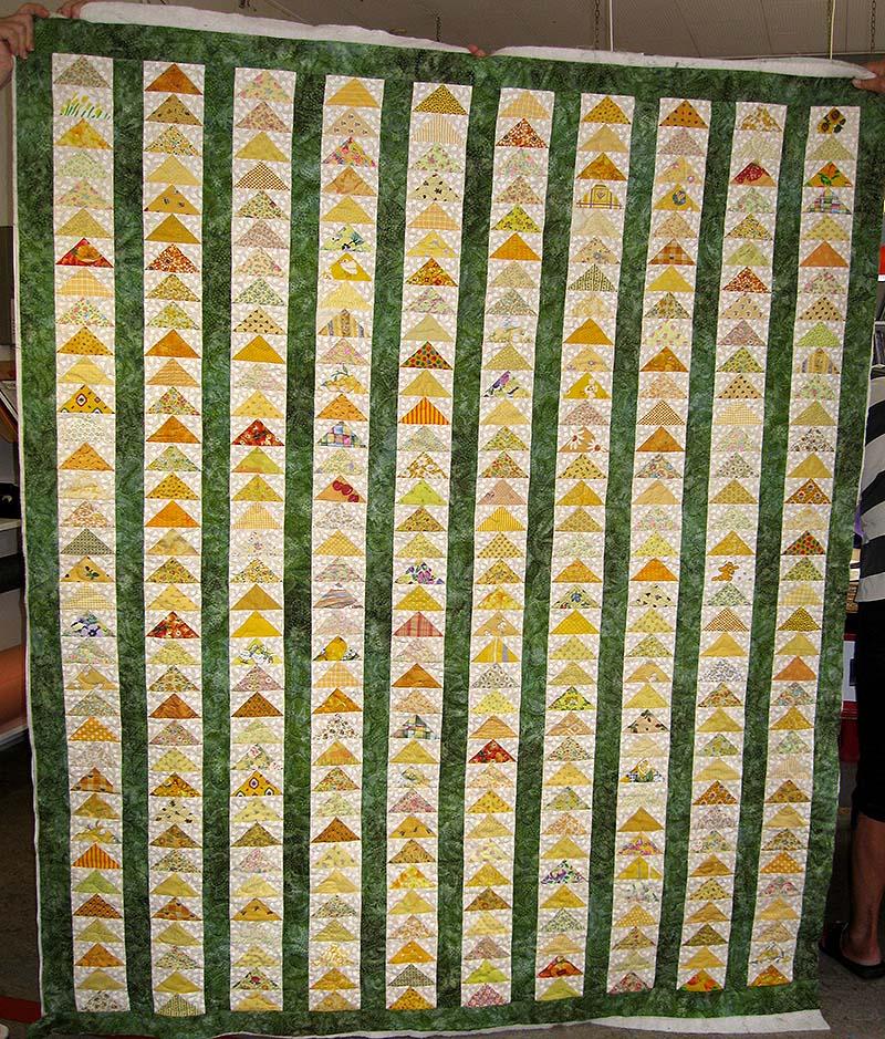 fluing geese quiltet af laila