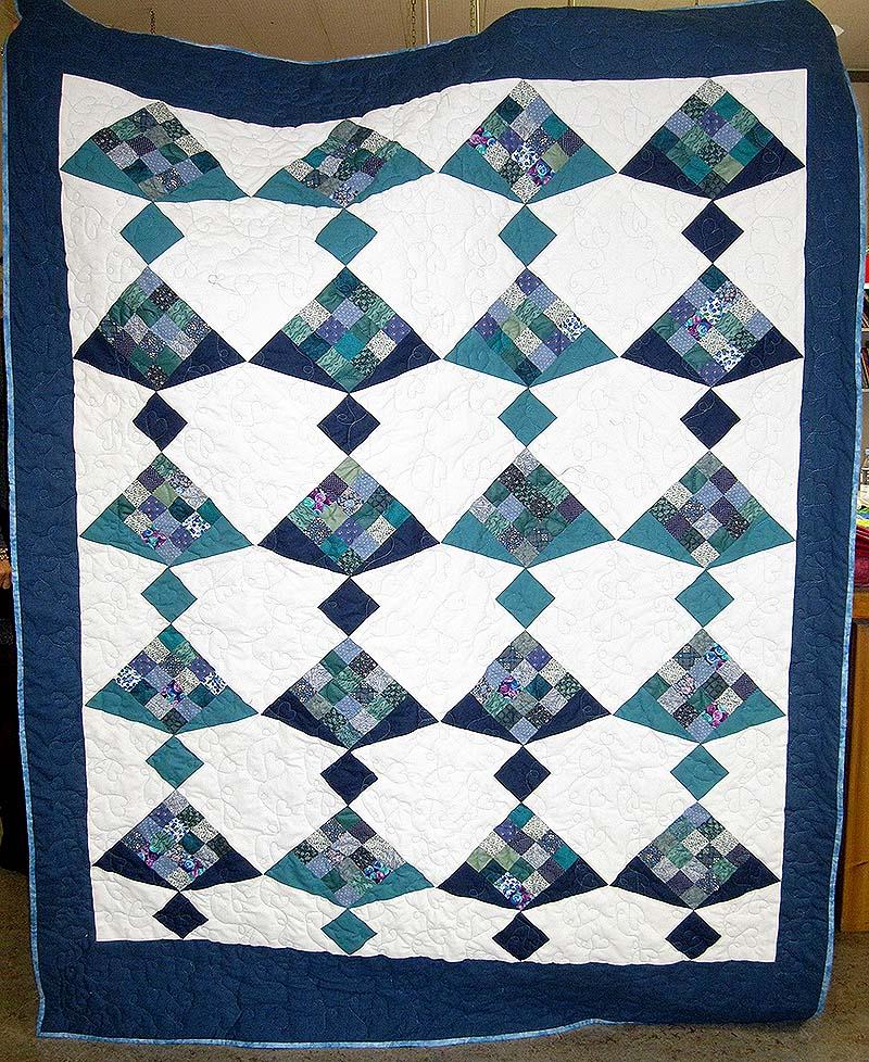 hannes tæppe quiltet af laila